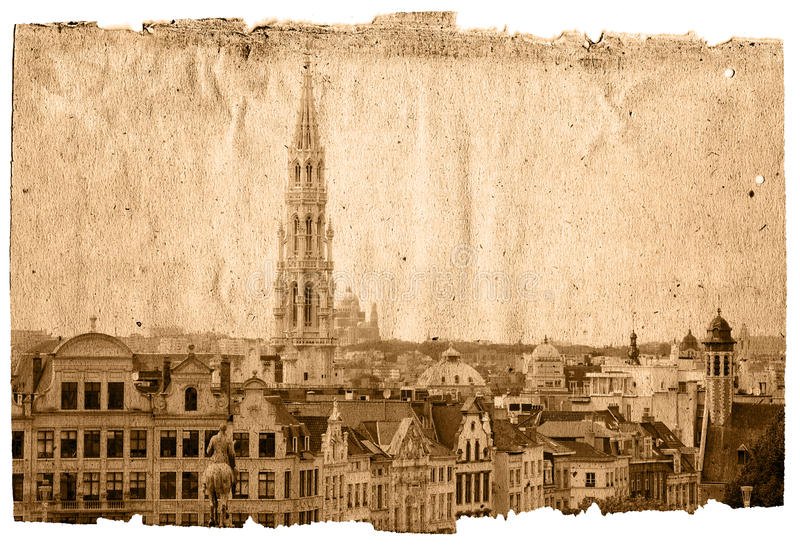 brussels landmark royaltyfri illustrationer