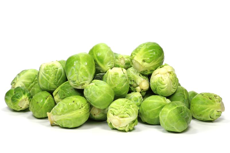 Brussels sprouts. Isolated on white background royalty free stock images