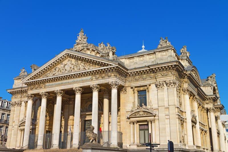 Brussels Stock Exchange in Belgium stock image