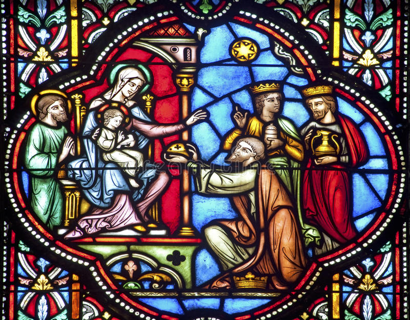 Download Brussels - Three Magi In St. Michael S Cathedral Stock Image - Image: 26167633