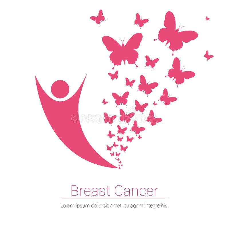 Brustkrebs-Bewusstseins-Rosa-Fahne lizenzfreie abbildung