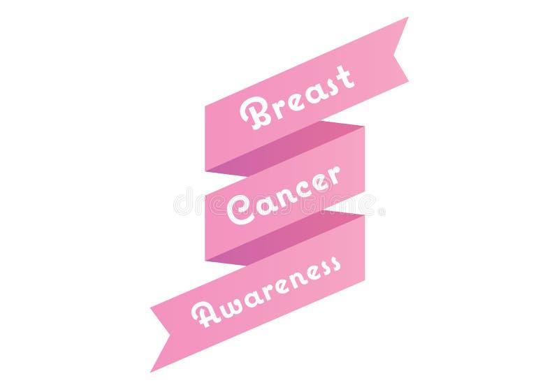 Brustkrebs-Bewusstseinsmitteilung im Rosa lizenzfreie abbildung