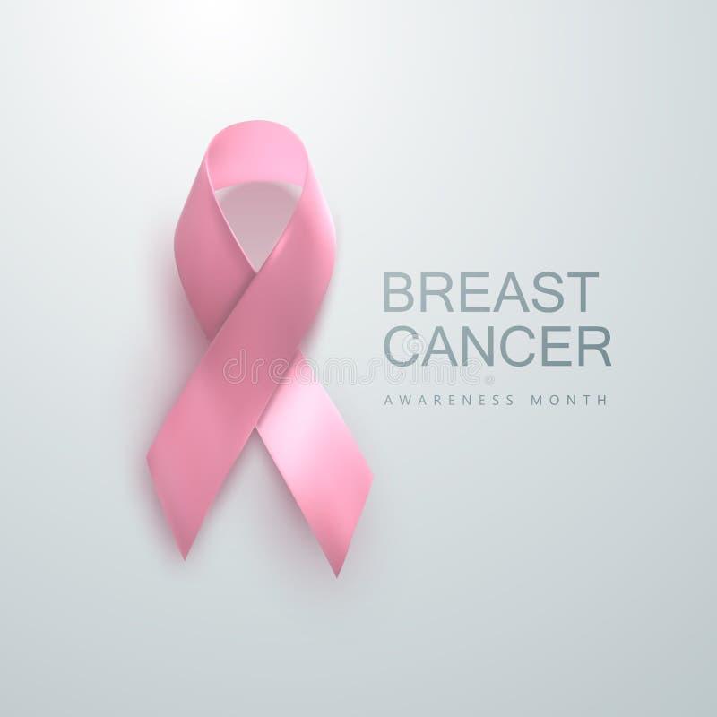Brustkrebs-Bewusstseinsrosaband lizenzfreie abbildung