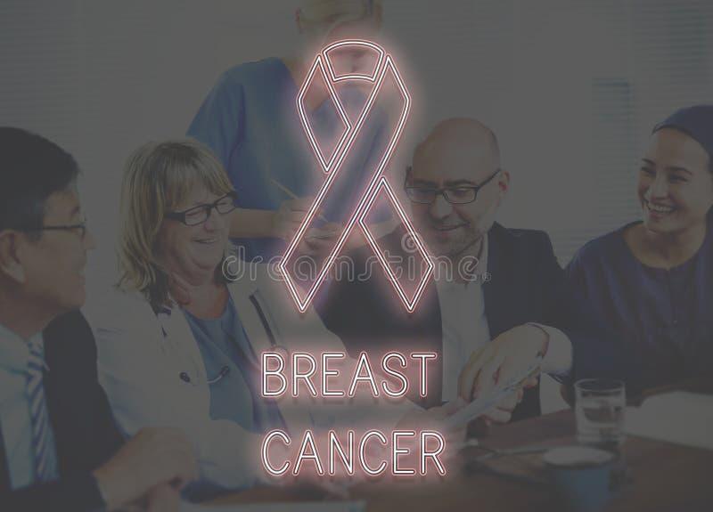 Brustkrebs-Hoffnungs-Gesundheitswesen glauben Konzept lizenzfreie stockfotografie