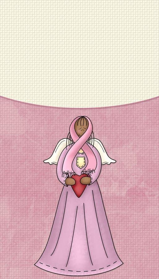 Brustkrebs-Rosa-Farbband-Engels-Hintergrund lizenzfreie stockbilder
