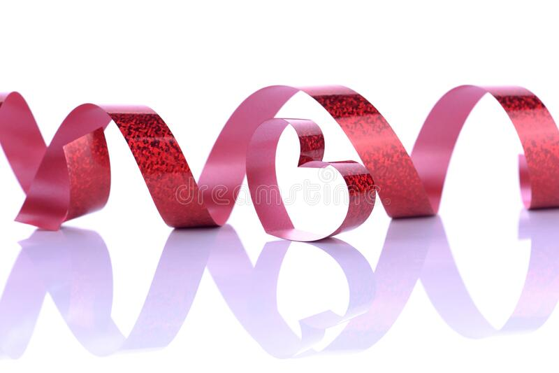 Brustkrebssymbol Rote Bandkurve lizenzfreie stockfotografie