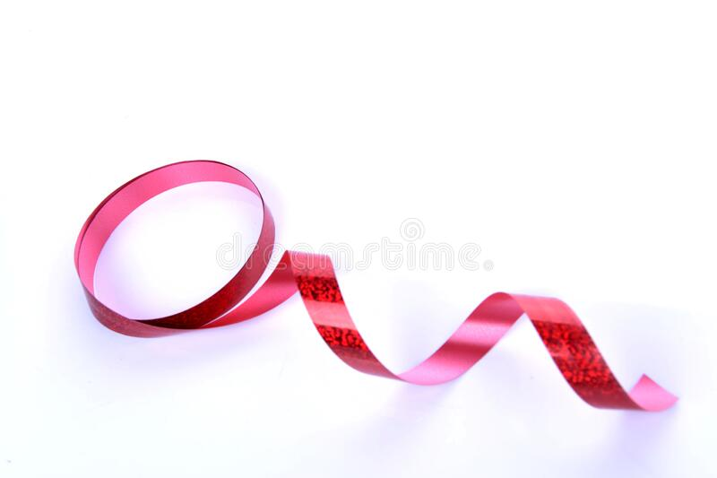 Brustkrebssymbol Rote Bandkurve stockfotos