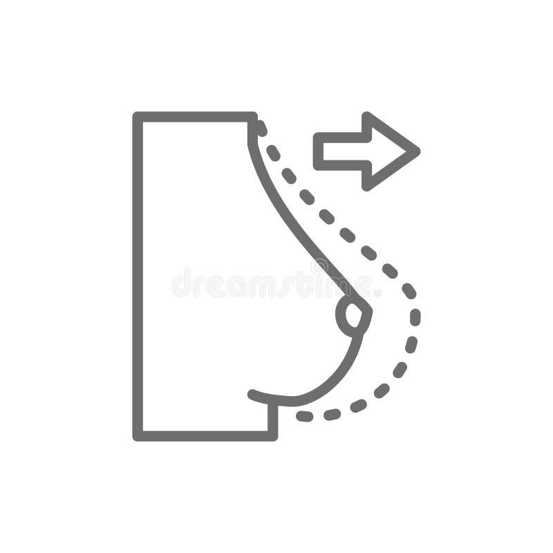 Brustvermehrung, Linie Ikone der plastischen Chirurgie lizenzfreie abbildung