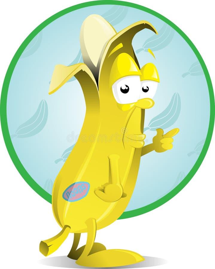 Brutaal banaankarakter stock illustratie
