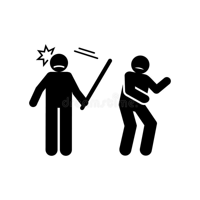 Brutaal, wreed, ruw, beteken pictogram Element van het negatieve pictogram van karaktertrekken Grafisch het ontwerppictogram van  vector illustratie