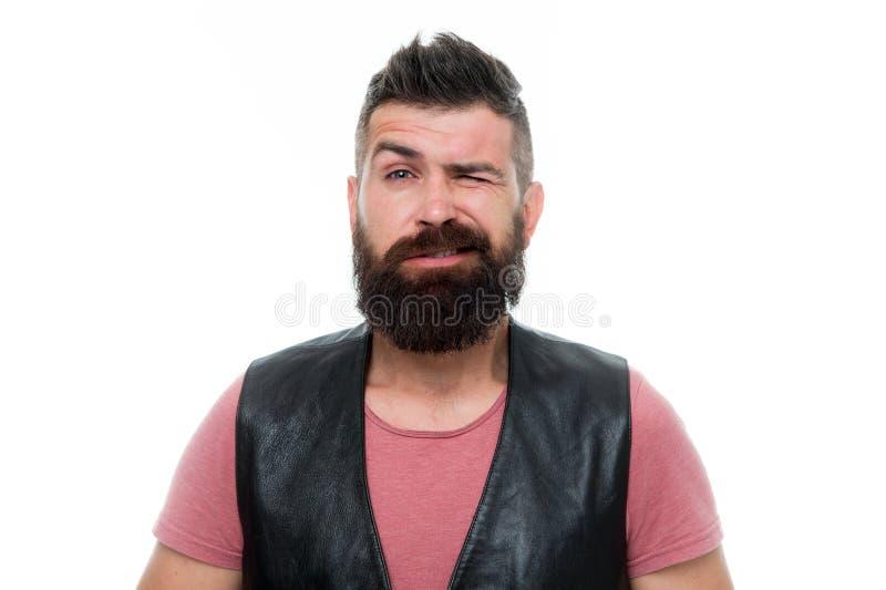 Brutal caucasian hipster med mustaschen Mogen hipster med skägget Manlig barberareomsorg blinka manhipsteren skäggig man royaltyfria bilder