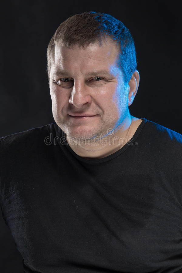 Download Brutal Man Actor Gesticulates And Grimaces. Stock Photo - Image: 83704184