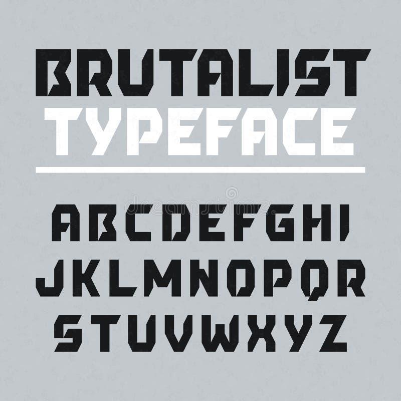 Brutalist typeface royalty ilustracja