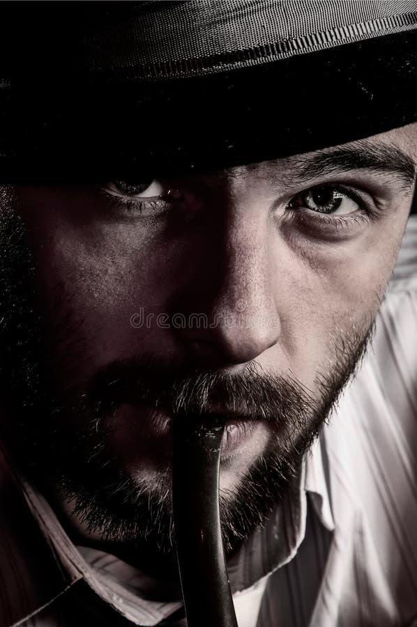 Brutally handsome man stock photo