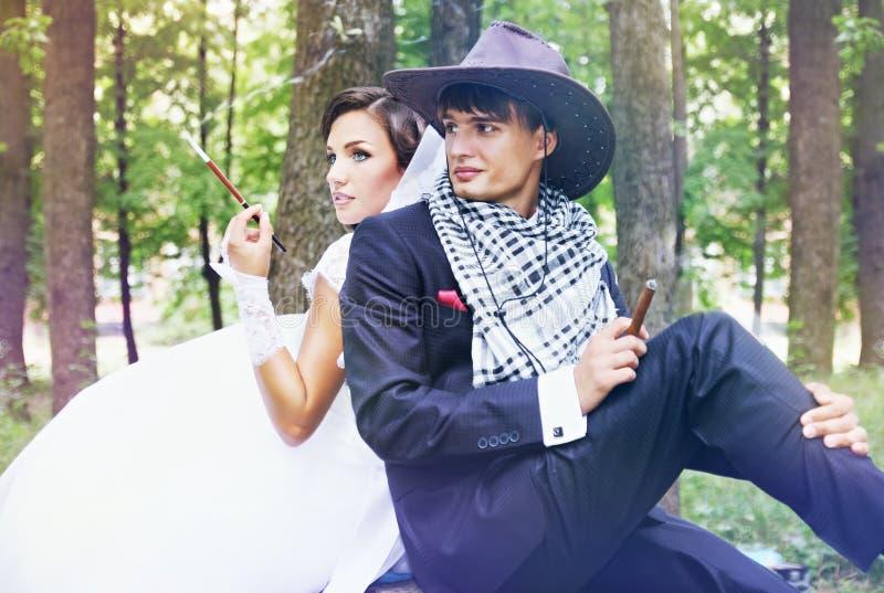 Brutalna nowożeńcy para obrazy royalty free