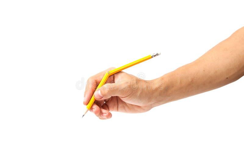Bruten blyertspenna på vit bakgrund royaltyfri fotografi