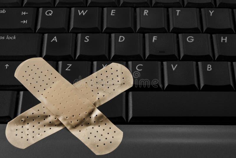 Bruten dator arkivbild