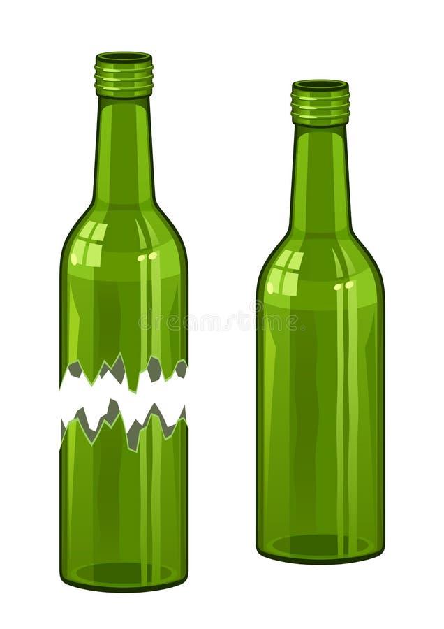 bruten flaska vektor illustrationer