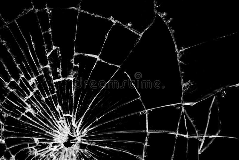 Bruten glass texturmodell för verklig spricka royaltyfri fotografi
