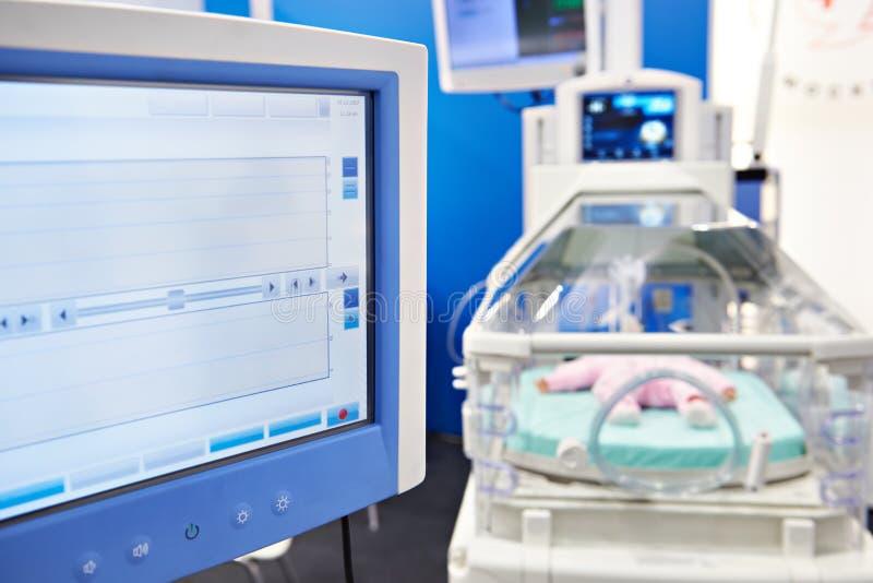 Brutkasten für Neugeborene stockbild