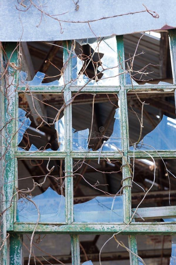 Brutna Windows på Sandy Hook arkivbild
