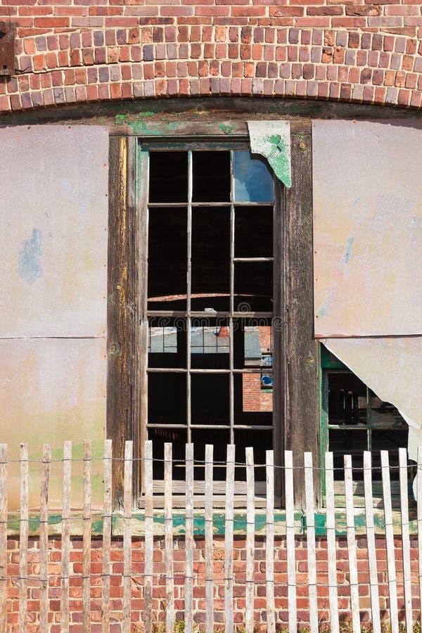 Brutna Windows på Sandy Hook fotografering för bildbyråer