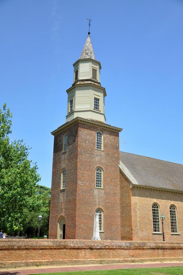 Bruton教区主教制度的教会,威廉斯堡 免版税图库摄影