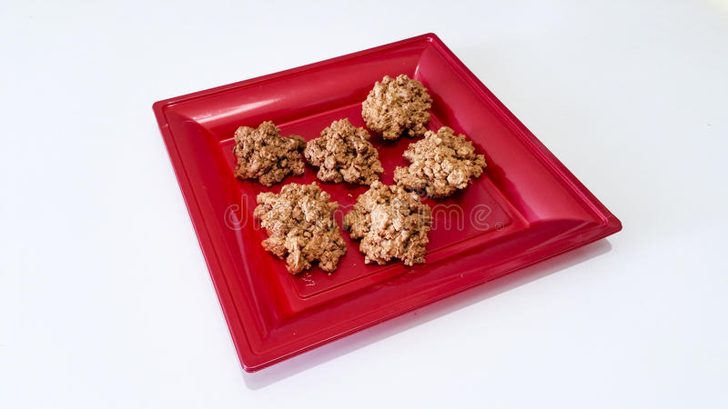Brutti ma buoni biscuits. In a red tray royalty free stock photo