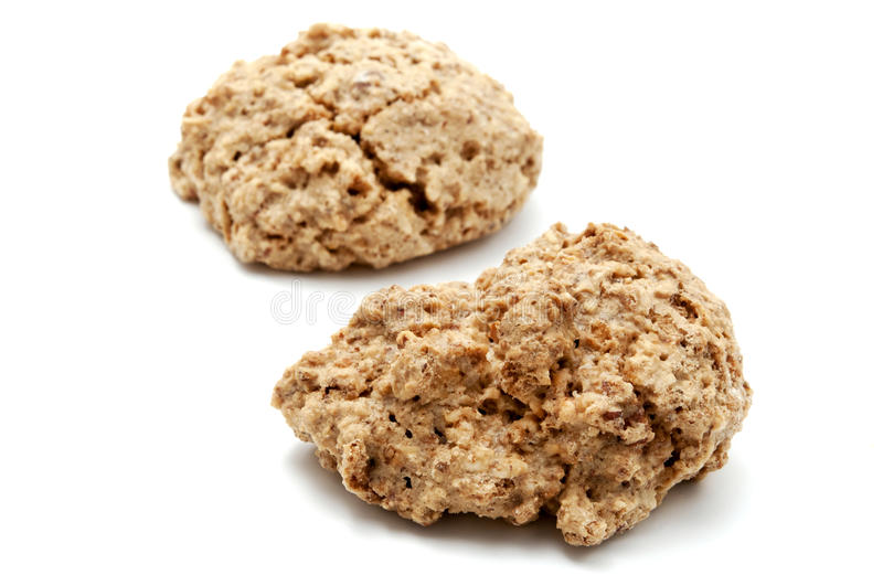 Brutti ma buoni. Ugly but good cookies on a white background royalty free stock images