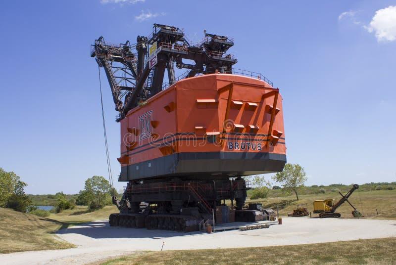 Brutus Electric Coal Mining Shovel grande fotos de stock royalty free