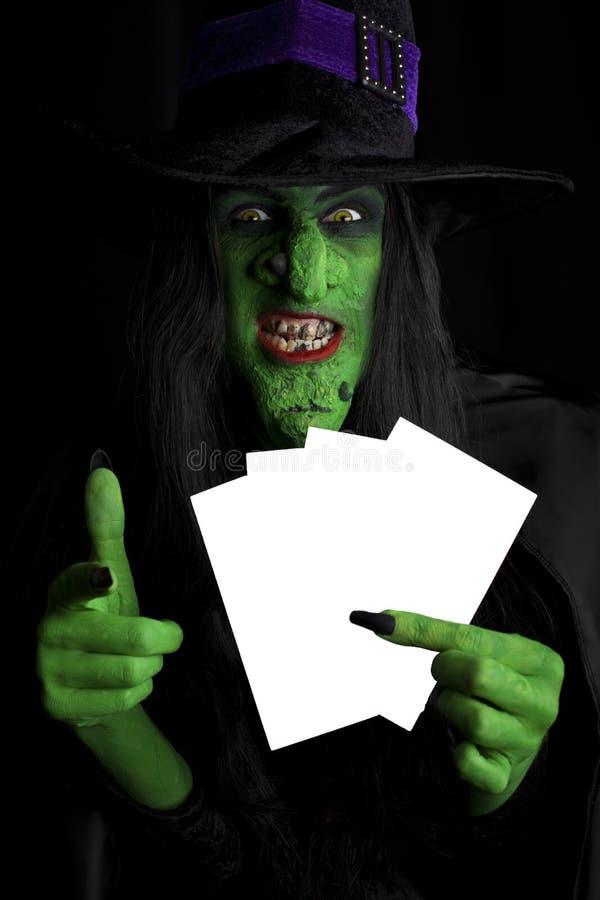 Bruxa assustador. imagem de stock