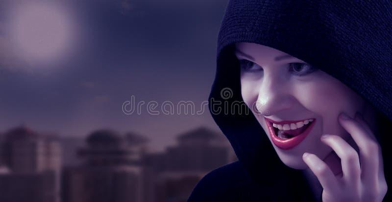 Bruxa bonita no dia de Halloween imagem de stock