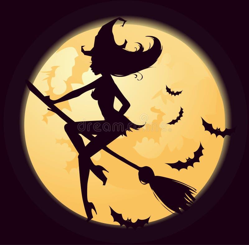 Bruxa de Halloween ilustração stock