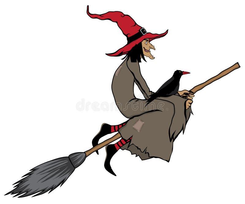 Bruxa de Halloween ilustração do vetor