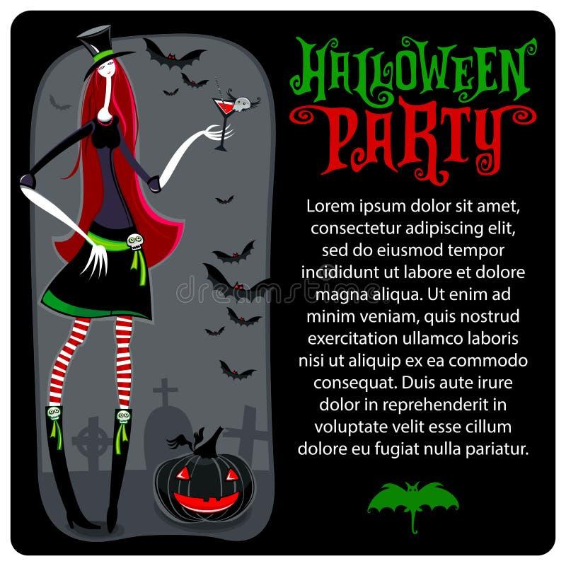 Bruxa de Halloween Molde do vetor Série de Dia das Bruxas fotos de stock