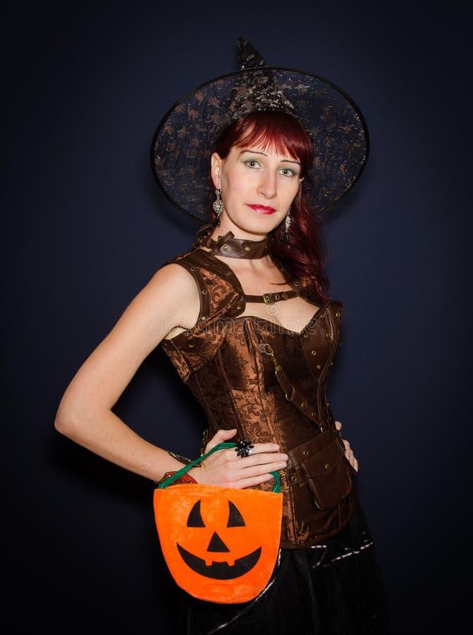 Bruxa do Dia das Bruxas da forma imagem de stock