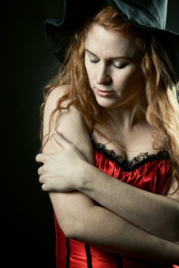 Bruxa do Redhead imagem de stock