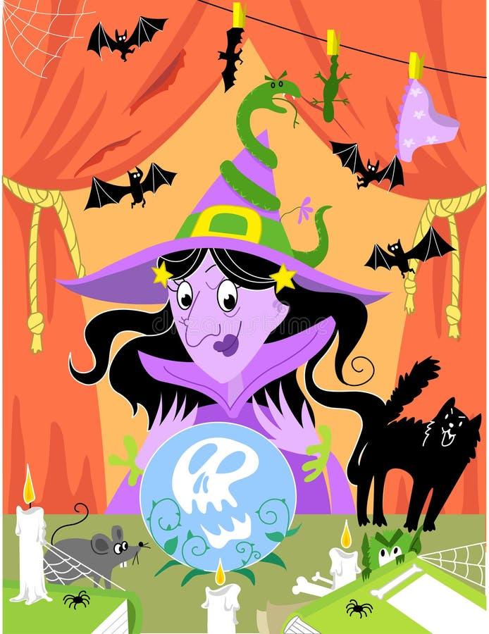 Bruxa: ilustração de Halloween. ilustração royalty free