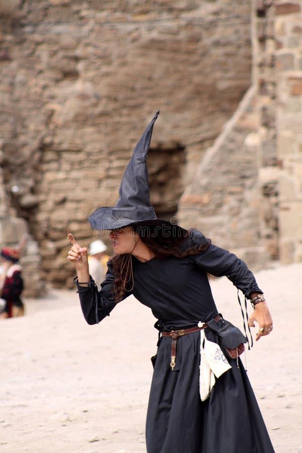 Bruxa no fest do capacete de Genoa imagens de stock