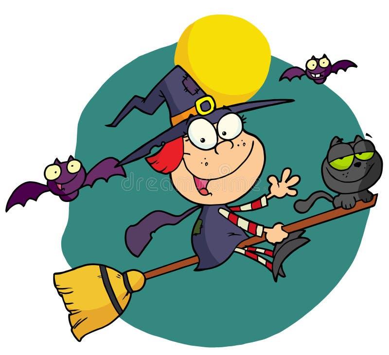 Bruxa pequena de Halloween ilustração do vetor