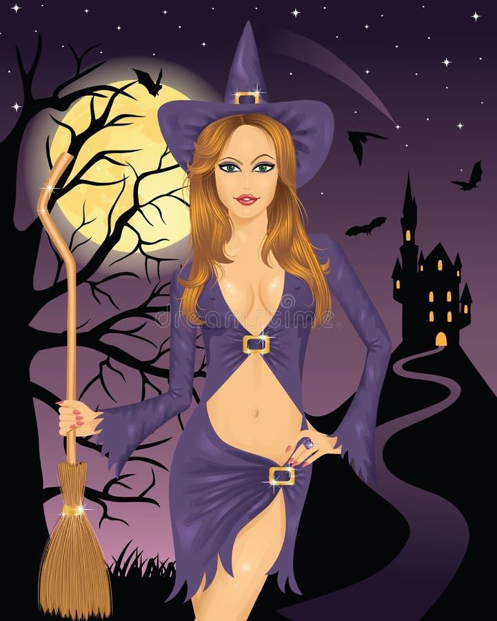 Bruxa 'sexy'. ilustração stock