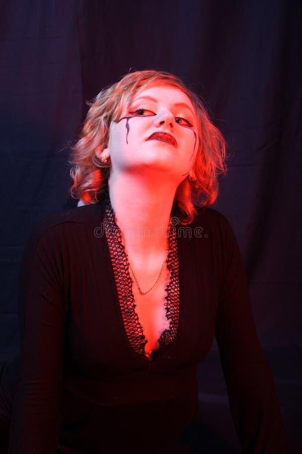 Bruxa vermelha imagens de stock