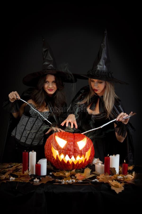 Bruxas de Halloween fotografia de stock