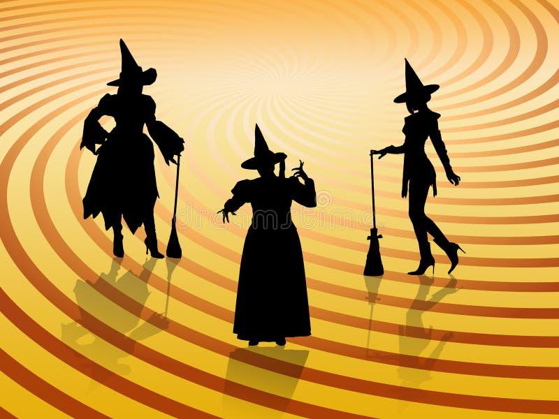 Bruxas de Halloween ilustração royalty free