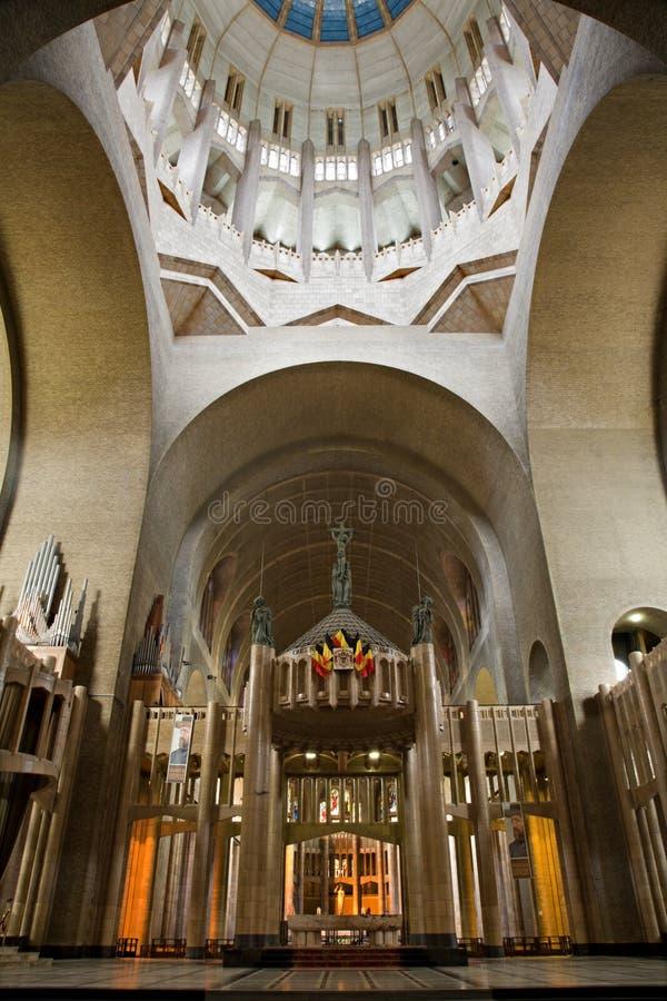Bruxelas - basílica nacional do coração sagrado foto de stock