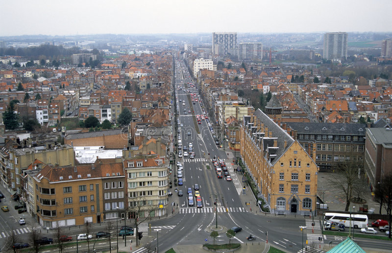 Bruxelas de acima fotografia de stock