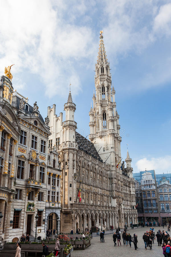 Bruxelas Grand Place Bélgica fotos de stock