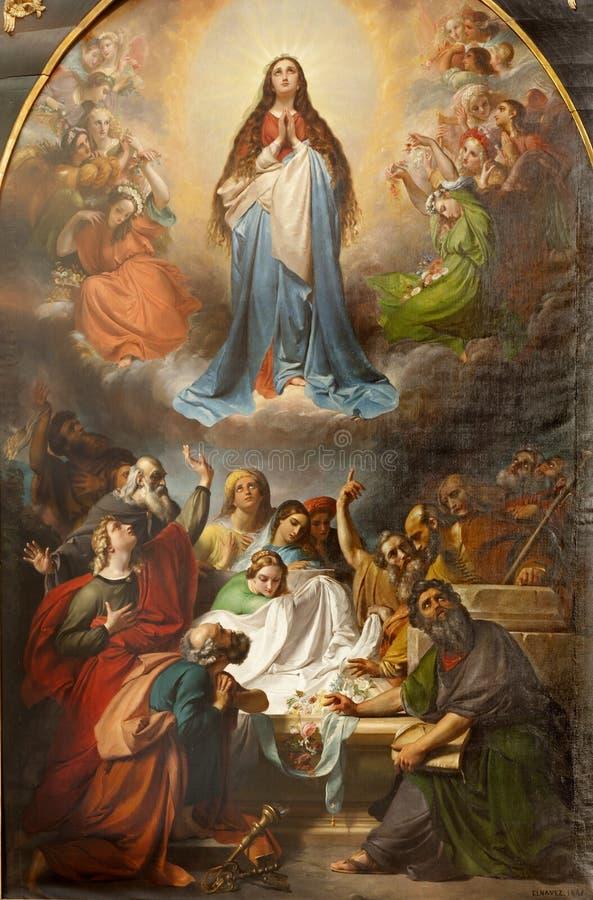 Bruxelas - pintura de nossa suposição de Ladyâs fotografia de stock royalty free