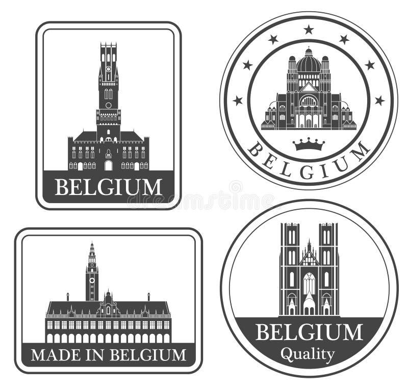 Bruxelles astratta illustrazione vettoriale