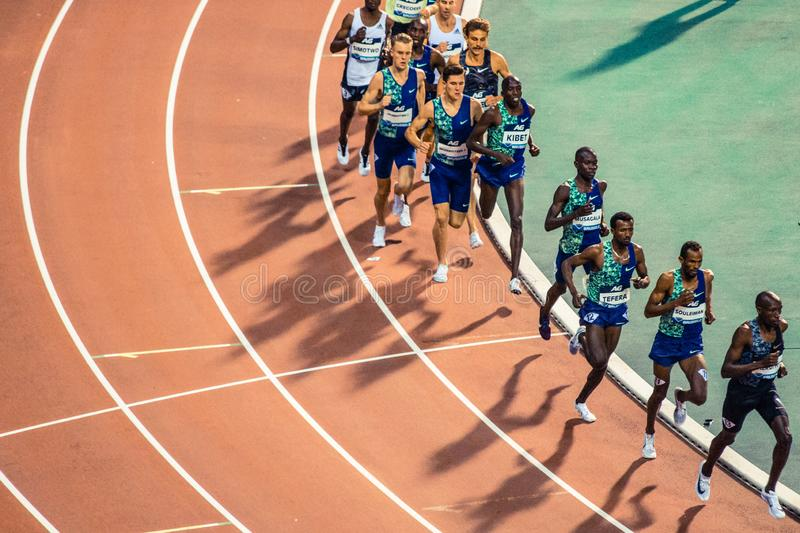 Diamond league, athletic competitions. royalty free stock photos